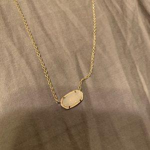 Late Spade Druzy Stone Necklace